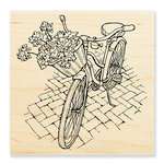 Stampendous - Wood Mounted Stamps - Bicycle Basket
