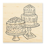 Stampendous - Wood Mounted Stamps - Dessert Display