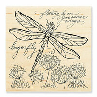 Stampendous - Wood Mounted Stamps - Dragonfly Wings