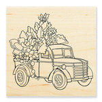 Stampendous - Wood Mounted Stamps - Succulent Truck
