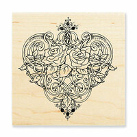 Stampendous - Wood Mounted Stamps - Heart Vines