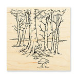 Stampendous - Wood Mounted Stamps - Robin Woods