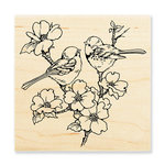 Stampendous - Wood Mounted Stamps - Dogwood Birds