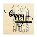 Stampendous - Wood Mounted Stamps - Candle Wish