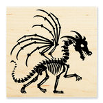 Stampendous - Halloween - Wood Mounted Stamps - Dragon Skeleton