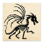 Stampendous - Halloween - Wood Mounted Stamps - Dragon Skeleton