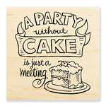Stampendous - Wood Mounted Stamps - Without Cake