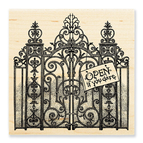 Stampendous - Halloween - Wood Mounted Stamps - Haunted Gates