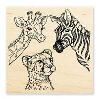 Stampendous - Wood Mounted Stamps - Safari Sighting