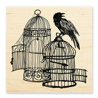 Stampendous - Halloween - Wood Mounted Stamps - Uncaged Raven