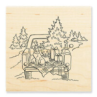 Stampendous - Wood Mounted Stamps - Truck Ride