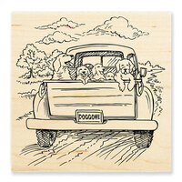 Stampendous - Wood Mounted Stamps - Dog Gone
