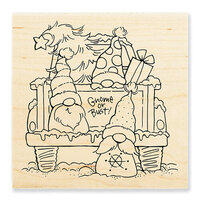 Stampendous - Christmas - Wood Mounted Stamps - Truck Gnomes