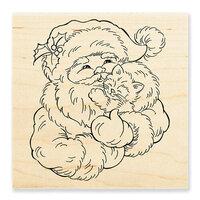 Stampendous - Christmas - Wood Mounted Stamps - Santa Kitten