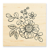 Stampendous - Wood Mounted Stamps - Floral Pop
