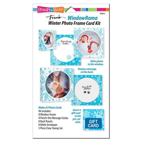 Stampendous - Windowrama Collection - Winter Card Kit