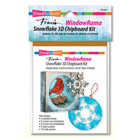 Stampendous - Christmas - Windowrama Collection - Snowflake Chipboard Kit