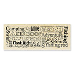 Stampendous - Wood Mounted Stamps - Camping Words