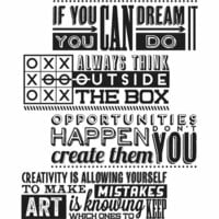 Stampers Anonymous - Tim Holtz - Cling Mounted Rubber Stamp Set - Motivation 1