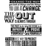 Stampers Anonymous - Tim Holtz - Cling Mounted Rubber Stamp Set - Motivation 2