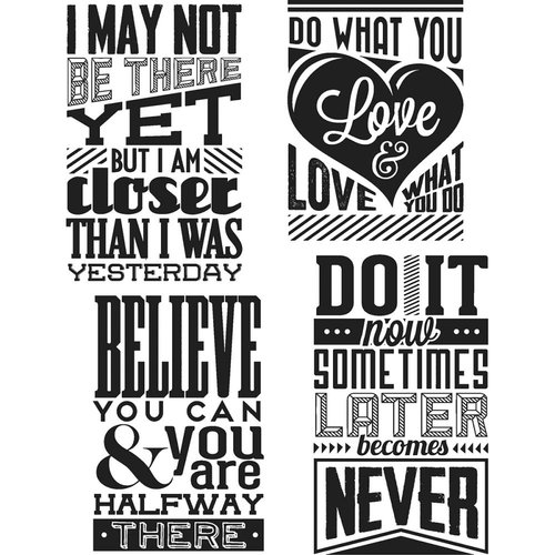 Stampers Anonymous - Tim Holtz - Cling Mounted Rubber Stamp Set - Motivation 3