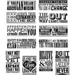 Stampers Anonymous - Tim Holtz - Cling Mounted Rubber Stamp Set - Mini Motivation