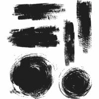 Stampers Anonymous - Tim Holtz - Cling Mounted Rubber Stamp Set - Brushstrokes
