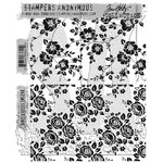 Stampers Anonymous - Tim Holtz - Cling Mounted Rubber Stamp Set - Vines and Roses