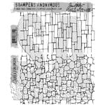Stampers Anonymous - Tim Holtz - Cling Mounted Rubber Stamp Set - Slate and Stone