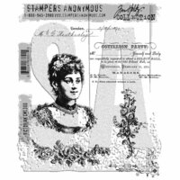 Stampers Anonymous - Tim Holtz - Cling Mounted Rubber Stamp Set - Victorian