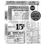 Stampers Anonymous - Tim Holtz - Cling Mounted Rubber Stamp Set - Etcetera