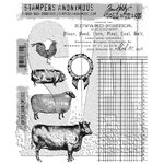 Stampers Anonymous - Tim Holtz - Cling Mounted Rubber Stamp Set - On the Farm