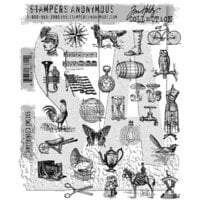 Stampers Anonymous - Tim Holtz - Cling Mounted Rubber Stamp Set - Tiny Things 2