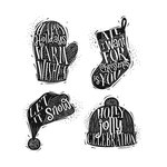 Stampers Anonymous - Tim Holtz - Christmas - Cling Mounted Rubber Stamp Set - Carved Christmas 1