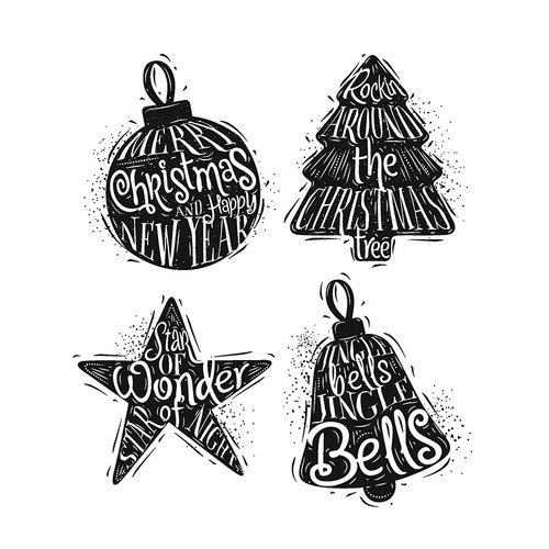 Stampers Anonymous - Tim Holtz - Christmas - Cling Mounted Rubber Stamp Set - Carved Christmas 2