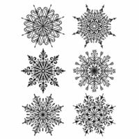 Stampers Anonymous - Tim Holtz - Christmas - Cling Mounted Rubber Stamp Set - Swirly Snowflakes