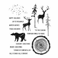 Stampers Anonymous - Tim Holtz - Christmas - Cling Mounted Rubber Stamp Set - Great Outdoors