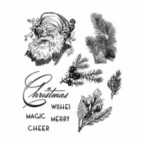 Stampers Anonymous - Tim Holtz - Christmas - Cling Mounted Rubber Stamp Set - Christmas Classic