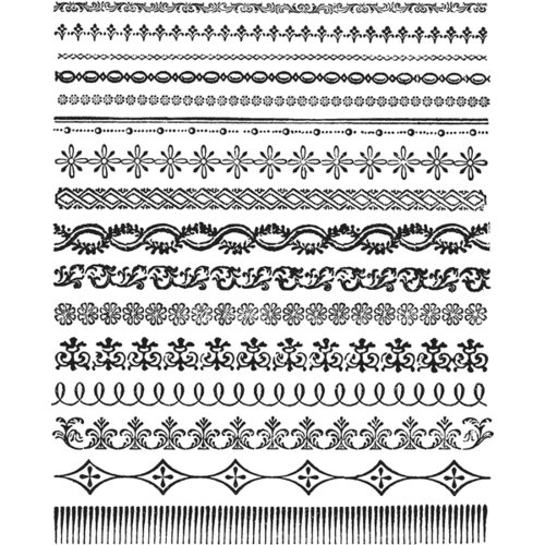 Stampers Anonymous - Tim Holtz - Cling Mounted Rubber Stamp Set - Ornate Trims