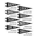 Stampers Anonymous - Tim Holtz - Cling Mounted Rubber Stamp Set - Pennants