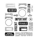 Stampers Anonymous - Tim Holtz - Cling Mounted Rubber Stamp Set - Mail Art