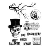 Stampers Anonymous - Tim Holtz - Halloween - Cling Mounted Rubber Stamp Set - Mr. Bones
