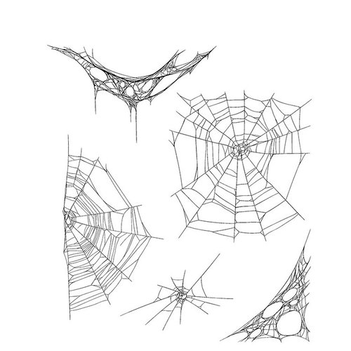 Stampers Anonymous - Tim Holtz - Halloween - Cling Mounted Rubber Stamp Set - Tangled Webs