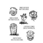 Stampers Anonymous - Tim Holtz - Halloween - Cling Mounted Rubber Stamp Set - Zombies