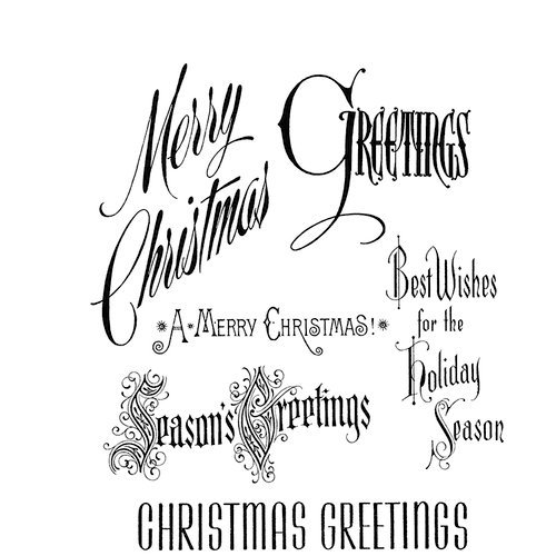 Stampers Anonymous - Tim Holtz - Christmas - Cling Mounted Rubber Stamp Set - Christmastime