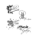 Stampers Anonymous - Tim Holtz - Christmas - Cling Mounted Rubber Stamp Set - Holiday Greetings
