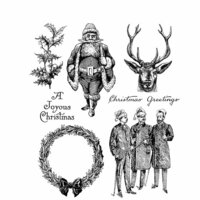 Stampers Anonymous - Tim Holtz - Christmas - Cling Mounted Rubber Stamp Set - Yuletide
