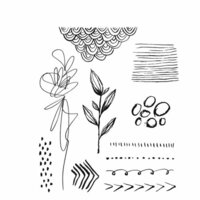 Stampers Anonymous - Tim Holtz - Cling Mounted Rubber Stamp Set - Media Marks 1