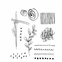 Stampers Anonymous - Tim Holtz - Cling Mounted Rubber Stamp Set - Media Marks 2