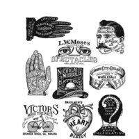 Stampers Anonymous - Tim Holtz - Cling Mounted Rubber Stamp Set - Eclectic Adverts
